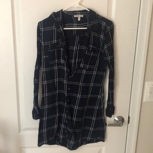 Flannel Tunic navy blue
